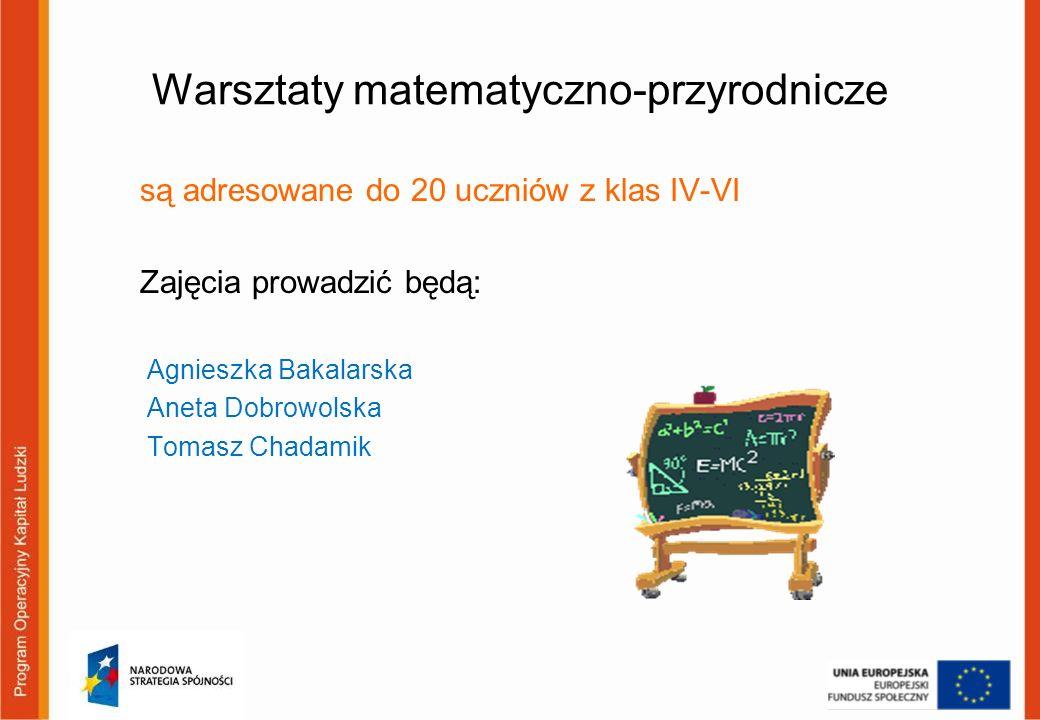 Warsztaty matematyczno-przyrodnicze