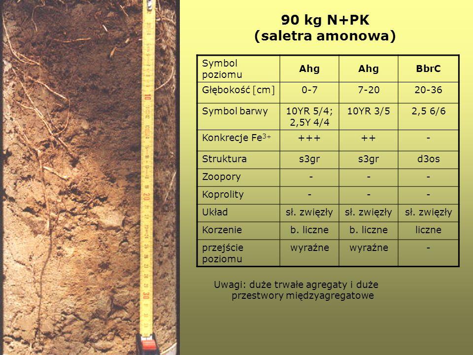 90 kg N+PK (saletra amonowa)