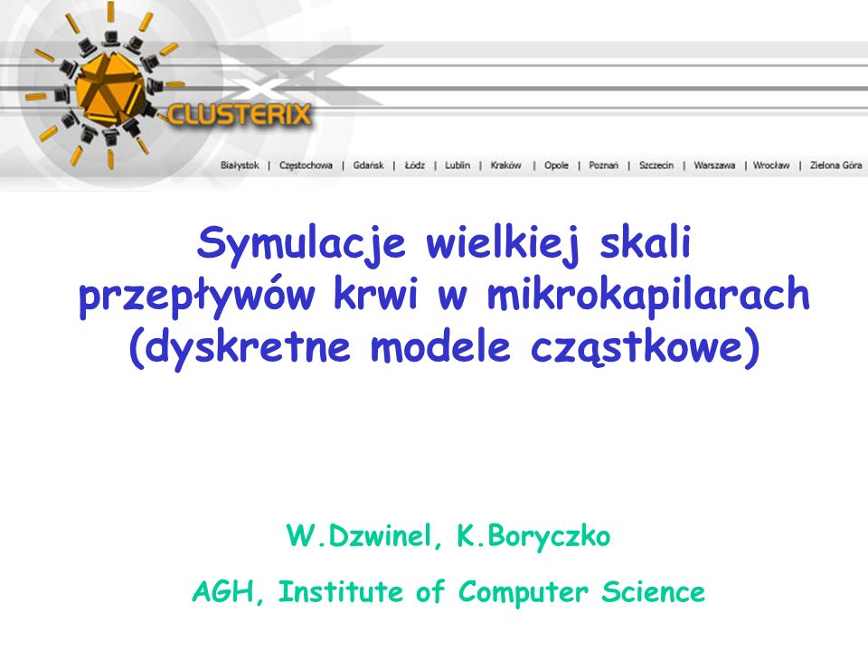 W.Dzwinel, K.Boryczko AGH, Institute of Computer Science