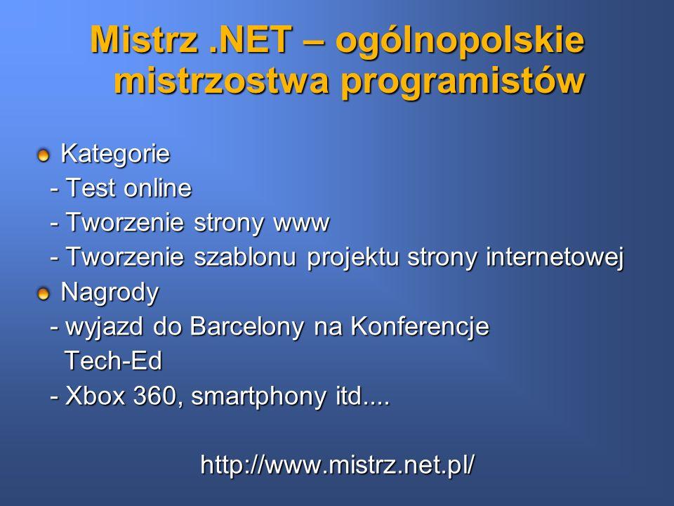 Mistrz .NET – ogólnopolskie mistrzostwa programistów