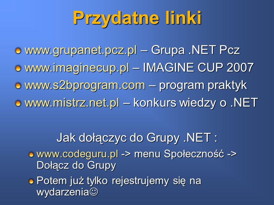 Jak dołączyc do Grupy .NET :