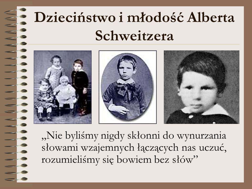 Dzieciństwo i młodość Alberta Schweitzera