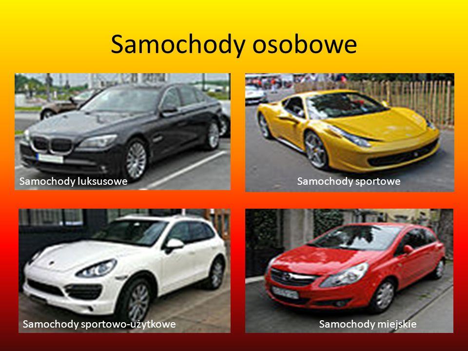 Samochody osobowe Samochody luksusowe Samochody sportowe