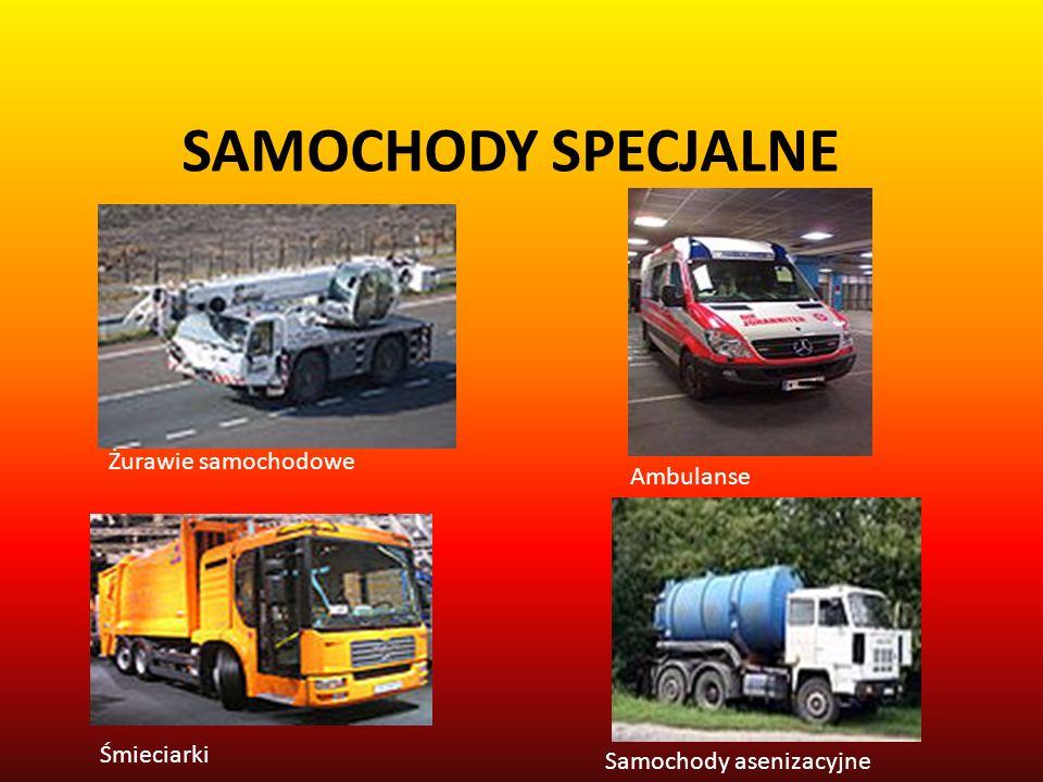 SAMOCHODY SPECJALNE Żurawie samochodowe Ambulanse Śmieciarki