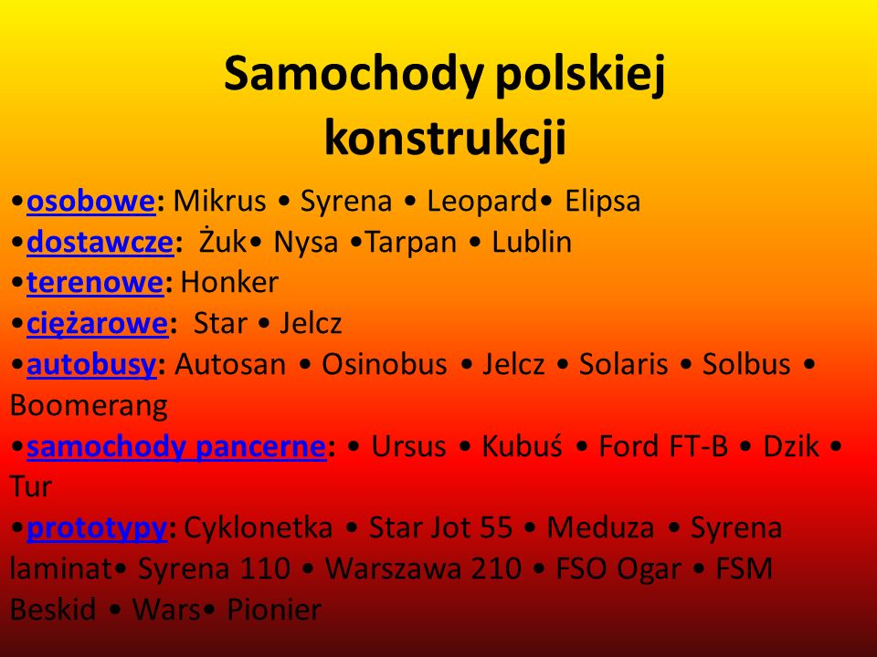 Samochody polskiej konstrukcji
