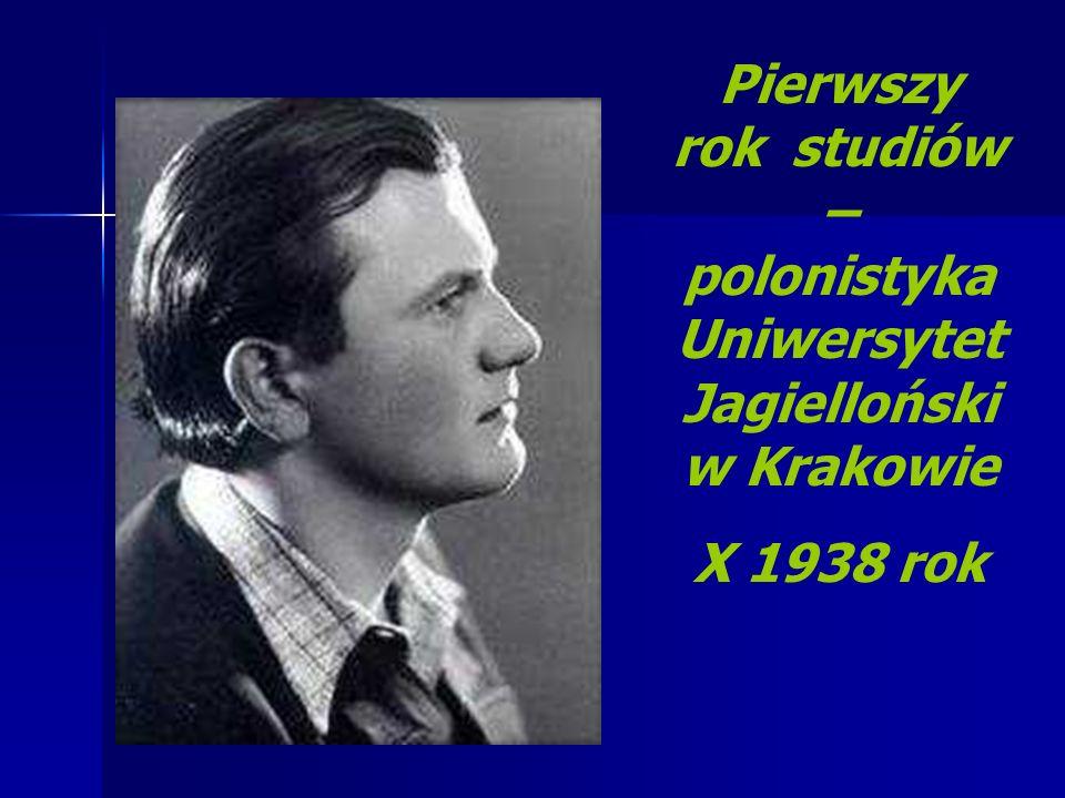 Pierwszy rok studiów – polonistyka Uniwersytet Jagielloński w Krakowie