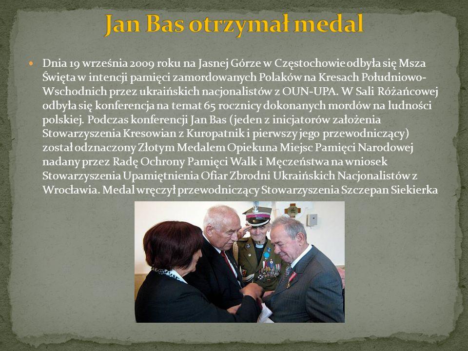 Jan Bas otrzymał medal