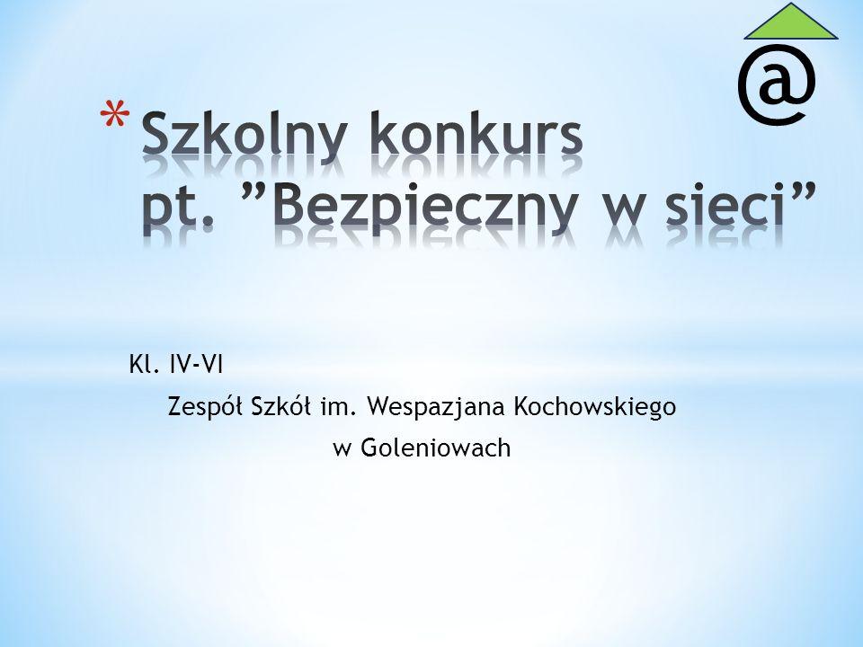 Szkolny konkurs pt. Bezpieczny w sieci
