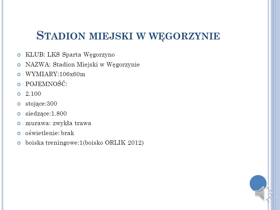 Stadion miejski w węgorzynie