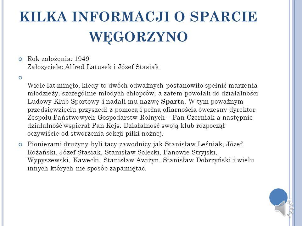 kilka informacji o sparcie węgorzyno