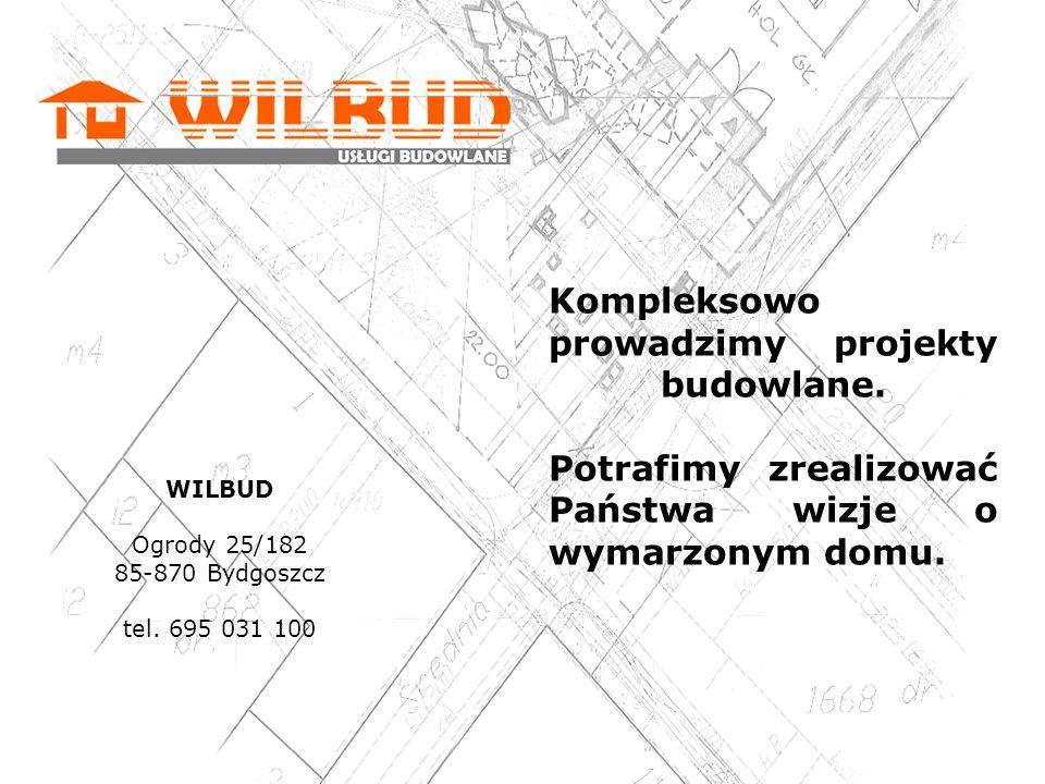 Kompleksowo prowadzimy projekty budowlane.
