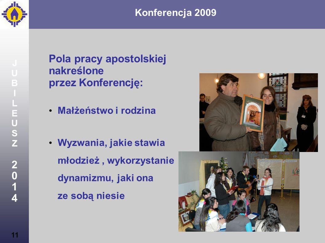 Pola pracy apostolskiej nakreślone przez Konferencję: