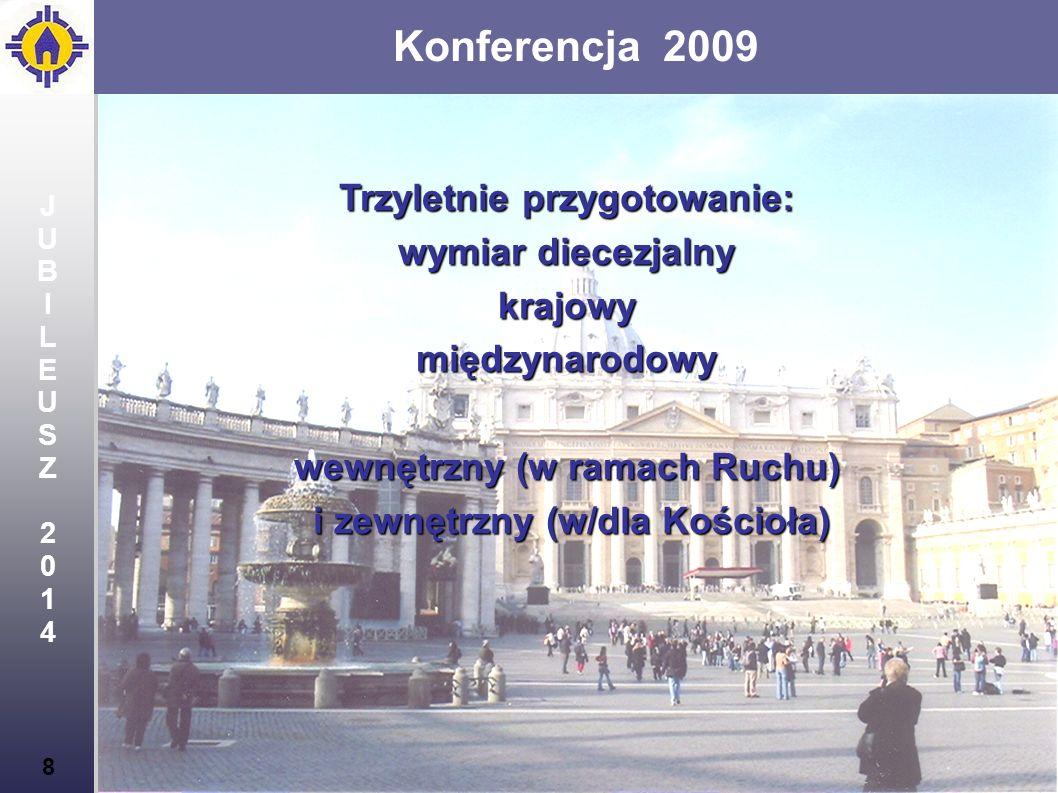 Konferencja 2009 Trzyletnie przygotowanie: wymiar diecezjalny krajowy