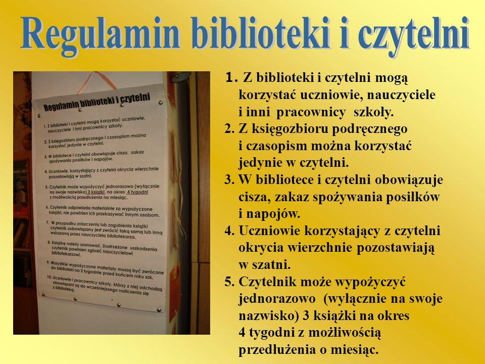 Regulamin biblioteki i czytelni