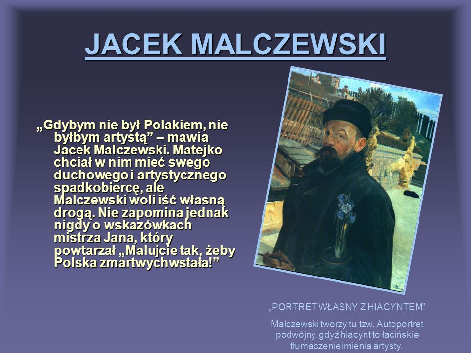 """""""PORTRET WŁASNY Z HIACYNTEM"""