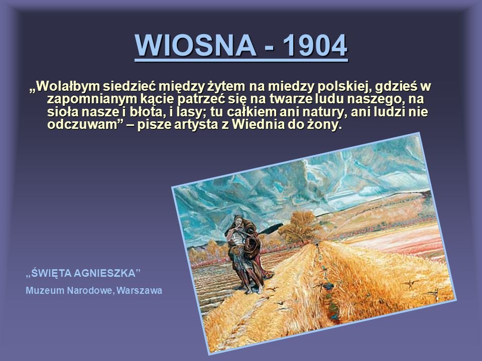 WIOSNA - 1904