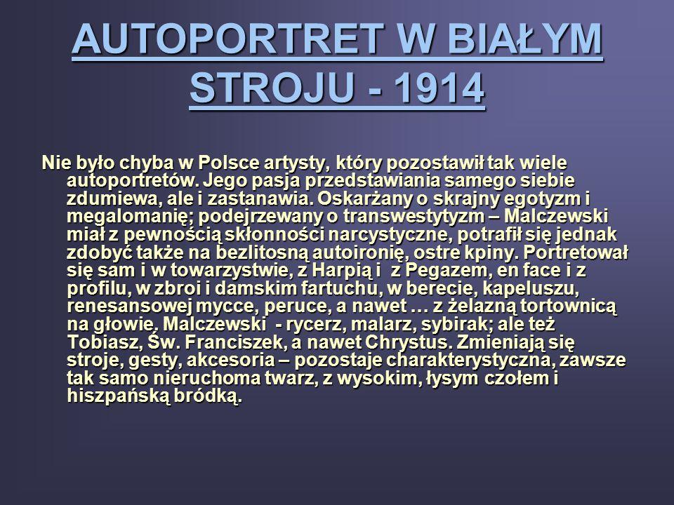 AUTOPORTRET W BIAŁYM STROJU - 1914