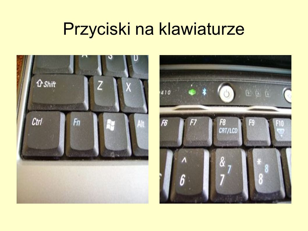 Przyciski na klawiaturze