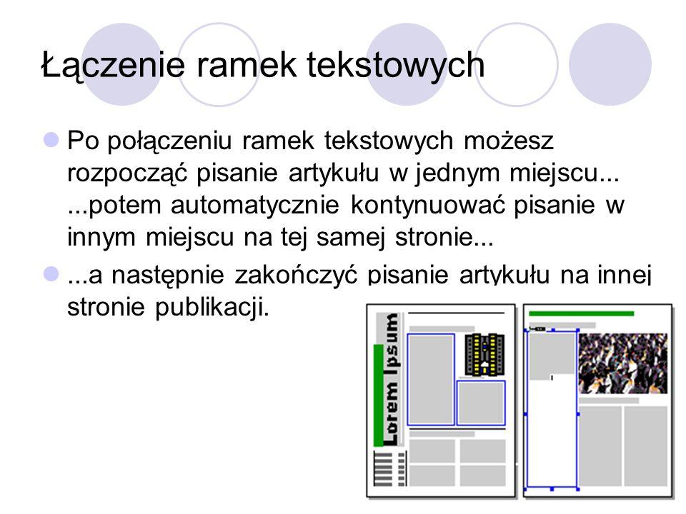 Łączenie ramek tekstowych