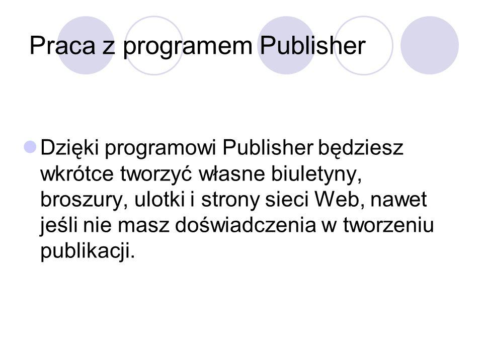 Praca z programem Publisher