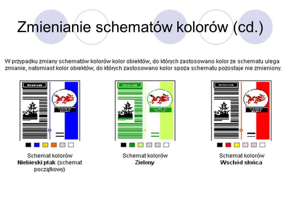 Zmienianie schematów kolorów (cd.)