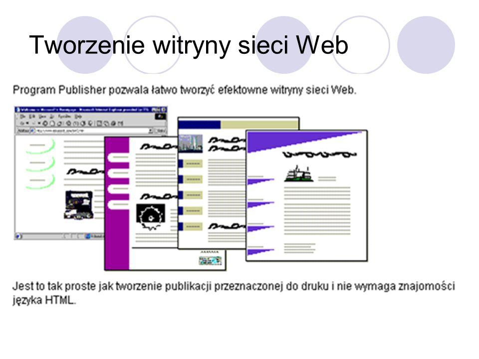 Tworzenie witryny sieci Web