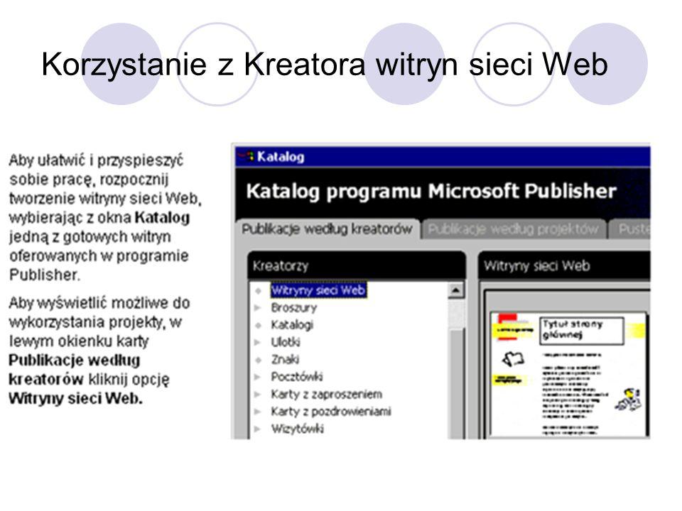 Korzystanie z Kreatora witryn sieci Web