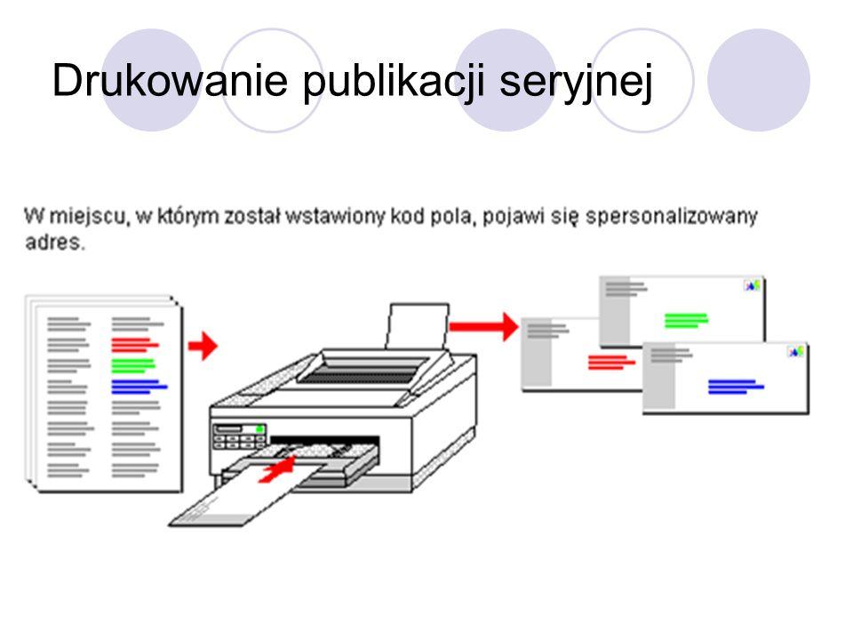 Drukowanie publikacji seryjnej