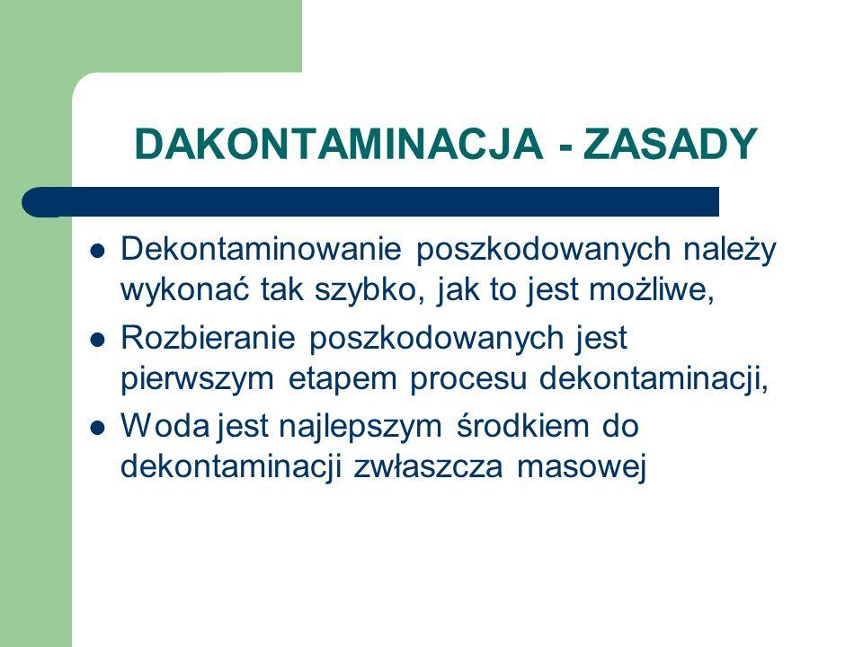 DAKONTAMINACJA - ZASADY