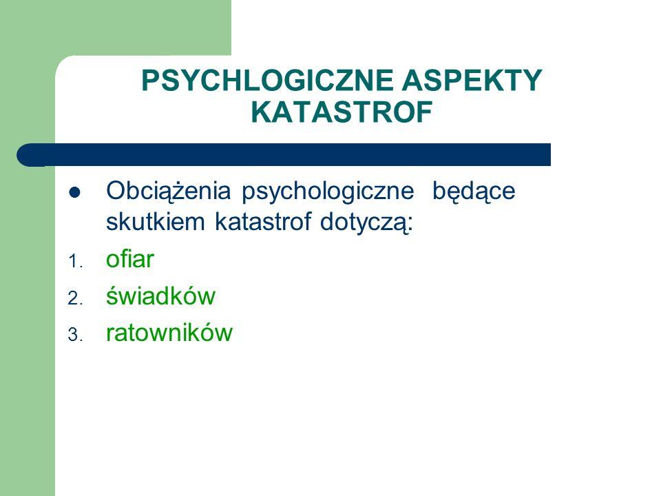 PSYCHLOGICZNE ASPEKTY KATASTROF