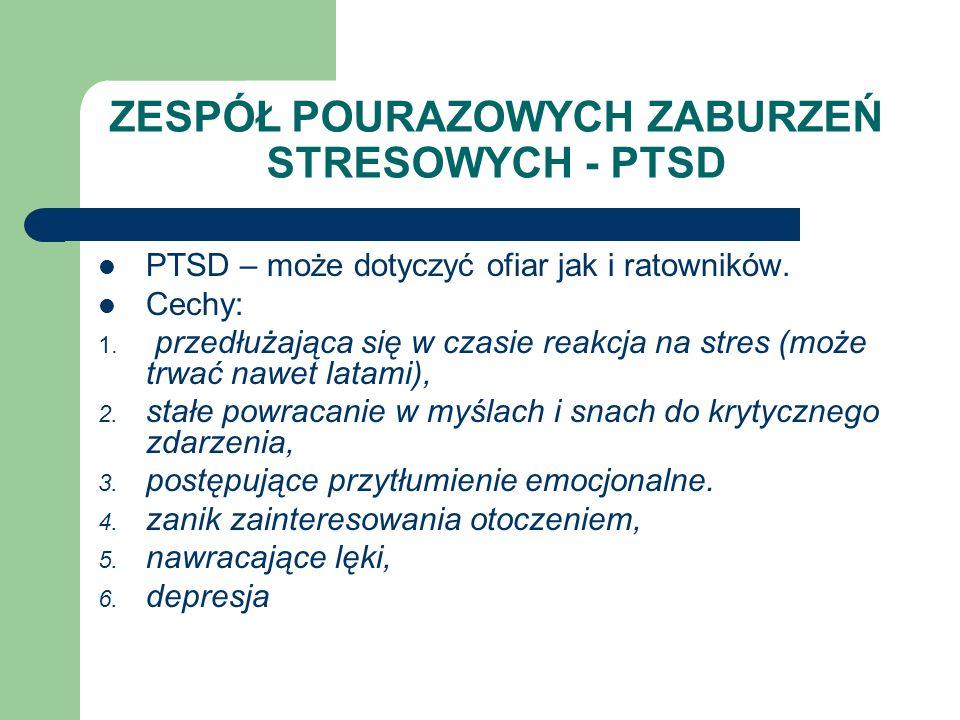 ZESPÓŁ POURAZOWYCH ZABURZEŃ STRESOWYCH - PTSD
