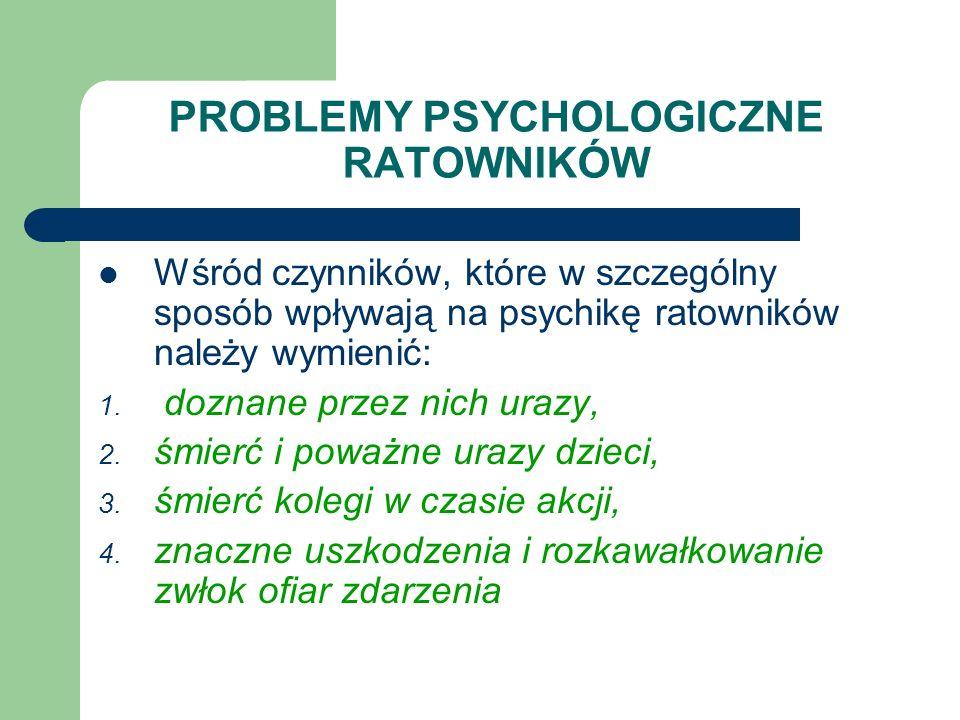 PROBLEMY PSYCHOLOGICZNE RATOWNIKÓW