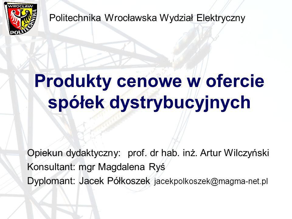 Politechnika Wrocławska Wydział Elektryczny