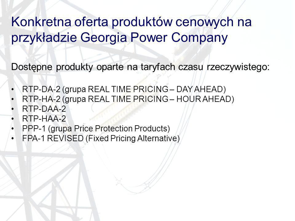 Konkretna oferta produktów cenowych na