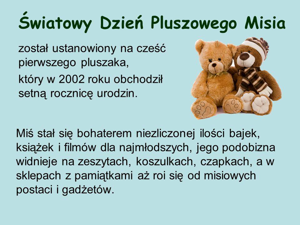 Światowy Dzień Pluszowego Misia