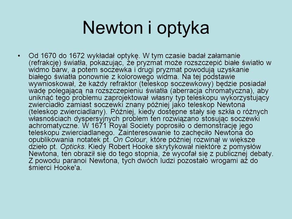 Newton i optyka