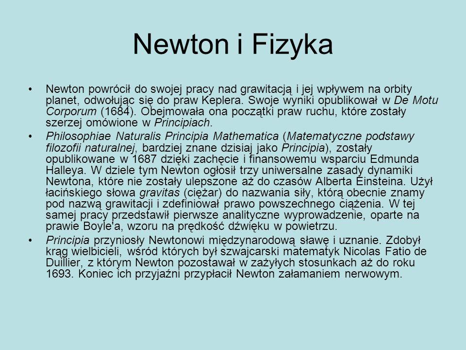 Newton i Fizyka