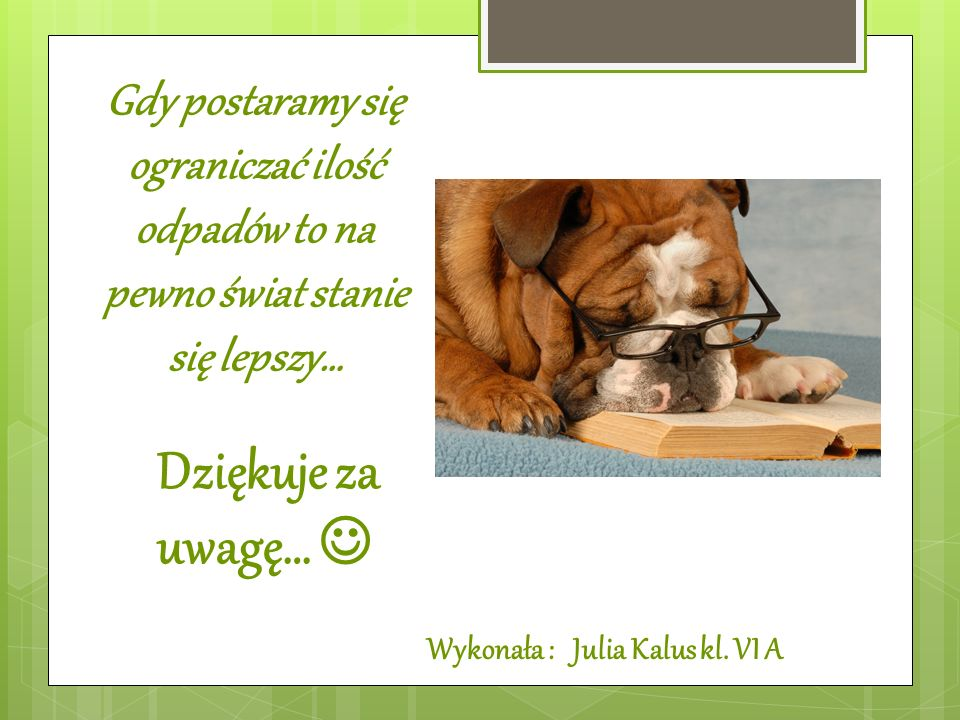 Wykonała : Julia Kalus kl. VI A
