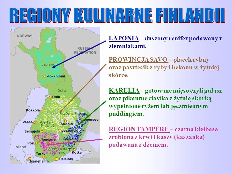 REGIONY KULINARNE FINLANDII