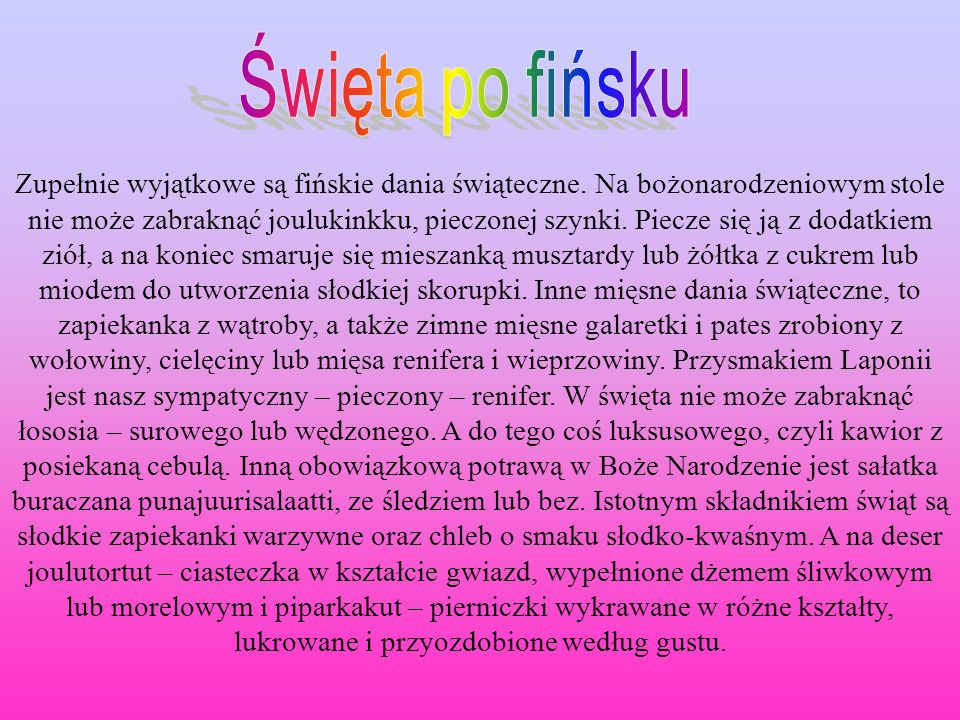 Święta po fińsku