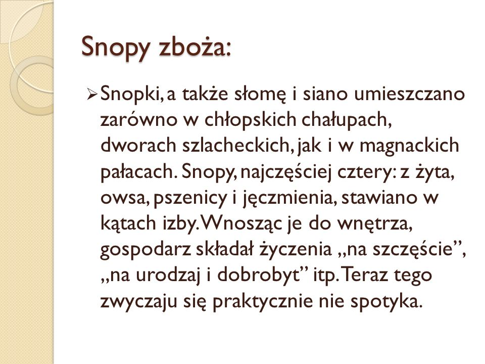 Snopy zboża: