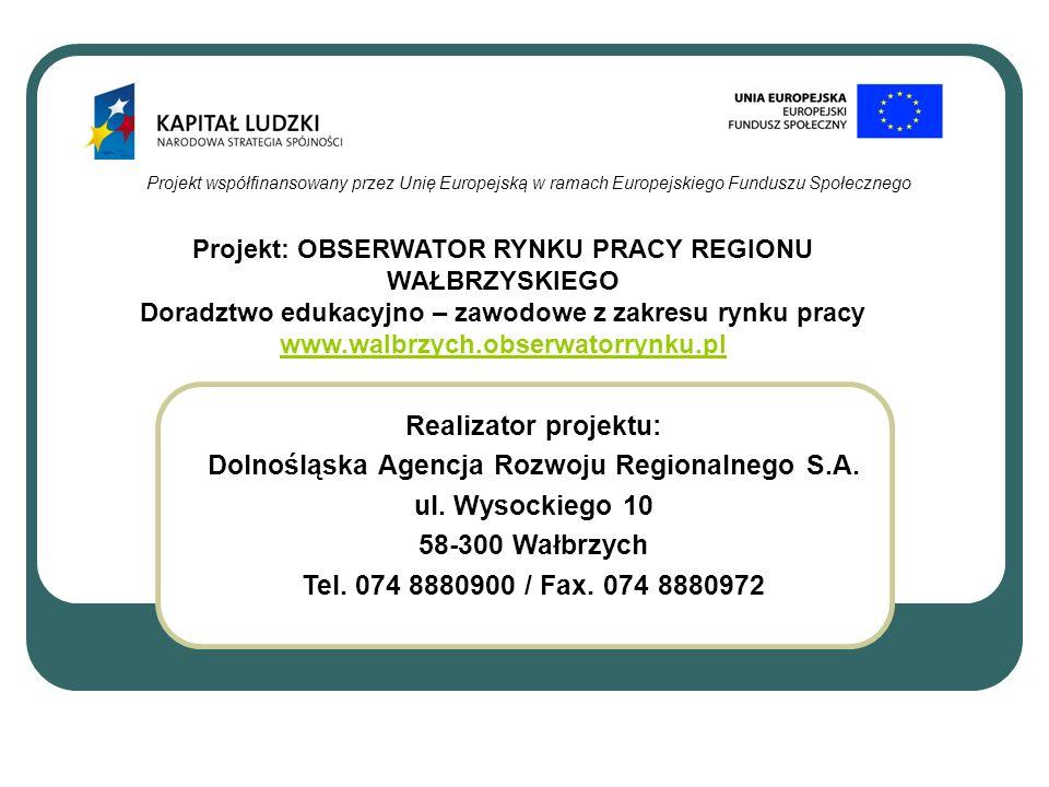 Dolnośląska Agencja Rozwoju Regionalnego S.A. ul. Wysockiego 10