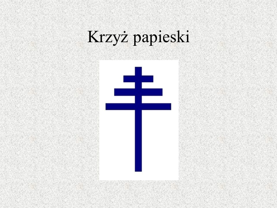 Krzyż papieski