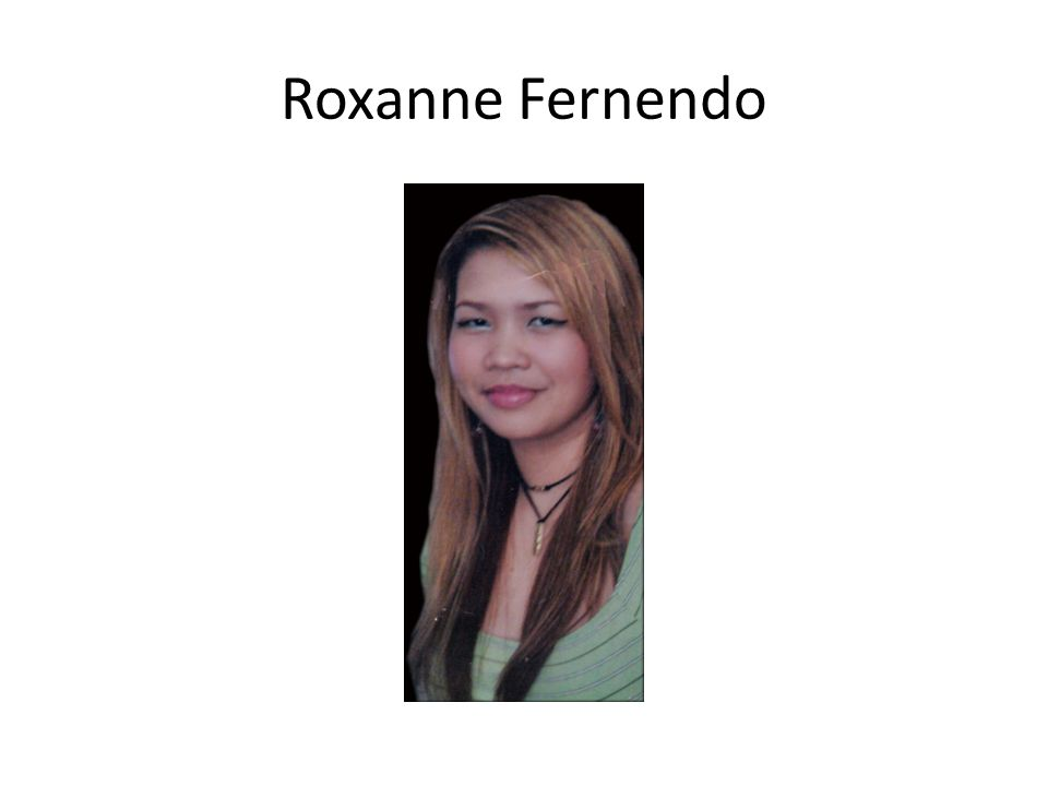Roxanne Fernendo