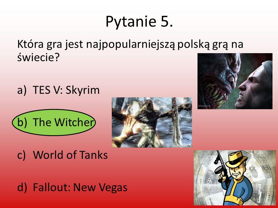 Pytanie 5. Która gra jest najpopularniejszą polską grą na świecie