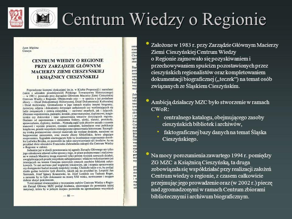 Centrum Wiedzy o Regionie