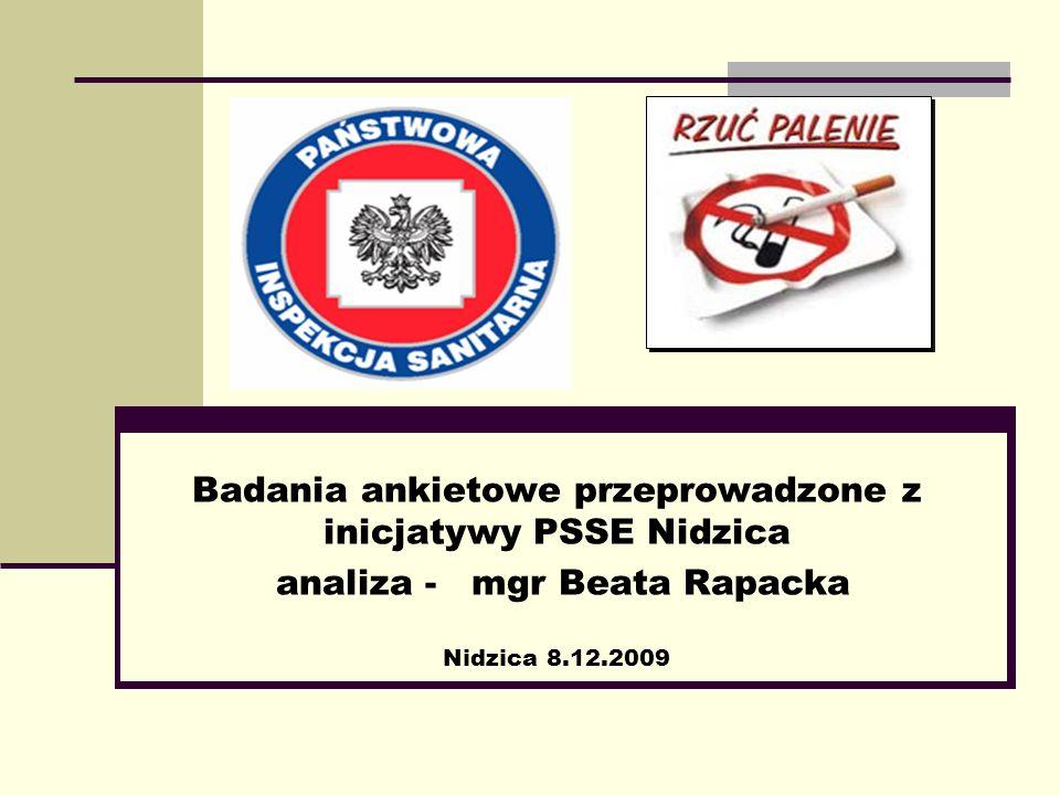 Badania ankietowe przeprowadzone z inicjatywy PSSE Nidzica