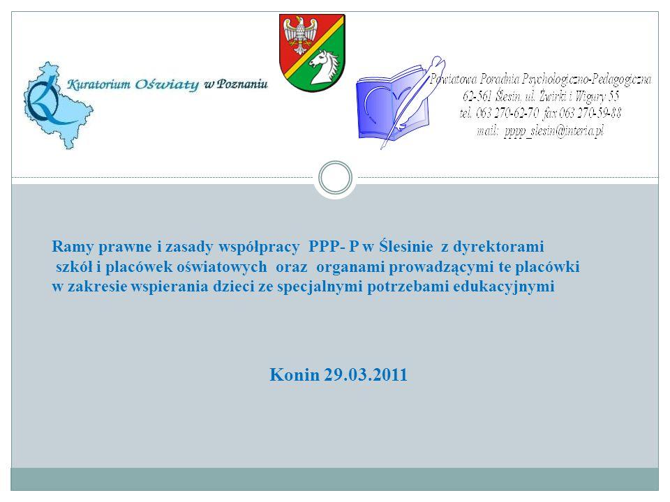 Ramy prawne i zasady współpracy PPP- P w Ślesinie z dyrektorami
