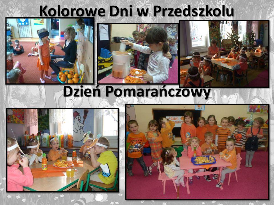 Kolorowe Dni w Przedszkolu Dzień Pomarańczowy