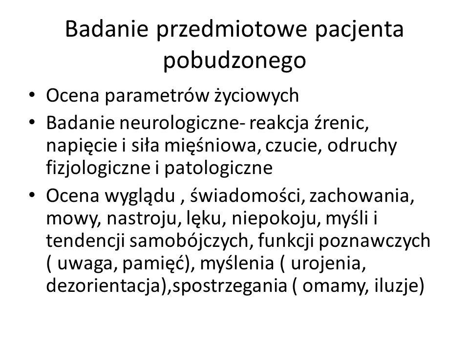 Badanie przedmiotowe pacjenta pobudzonego